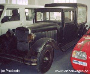 Old Skoda hearse